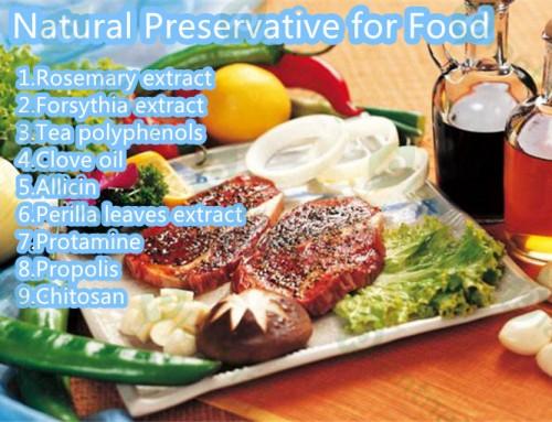 9 kinds of natural food preservative.